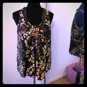Never worn Rachel Roy embellished top size L